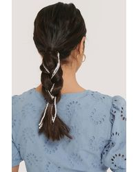 NA-KD 3-pack Beaded Hair Jewellery - Wit