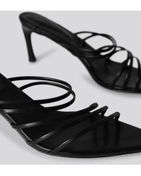 NA-KD Strappy Pointy Sandals - Zwart