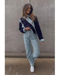 NA-KD Amalie Star X Organisch Jeans - Blauw