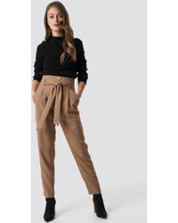 Mango - Zacarias Trousers Brown - Lyst