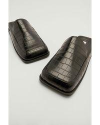 NA-KD Shoes Super Vierkante Instaploafers - Zwart