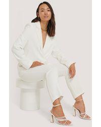 NA-KD White Tailored Blazer