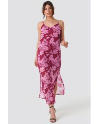 Trendyol Wos Flower Patterned Dress - Mehrfarbig