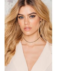NA-KD - Gold Plated Tooth Pu Choker Transparent - Lyst