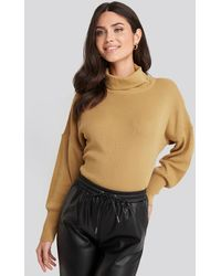 Trendyol Turtleneck Knitted Sweater - Naturel