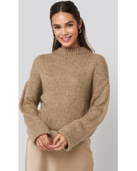 NA-KD - Round Neck Oversized Knitted Sweater - Lyst