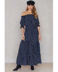 e7ab17375b SHEIN - Off Shoulder Ruffle Maxi Dress - Lyst