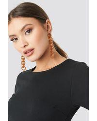 NA-KD Connected Resin Chain Earrings - Meerkleurig