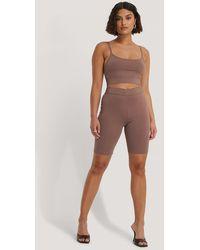 NA-KD Pink Organic Slim Short Tights