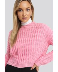 Trendyol Crop Knitted Sweater - Pink