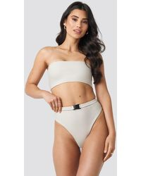 NA-KD - Hannalicious x High Waisted Buckle Bikini Pantie - Lyst