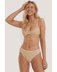 NA-KD - Gold Clean Cut Bikini Cup Bra - Lyst