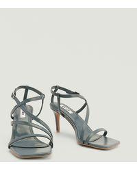 NA-KD Shoes Asymmetrische Naaldhakken Met Bandjes - Grijs
