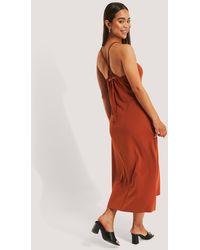 Trendyol Red Tile Back Detail Midi Dress