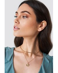 NA-KD - Double Chain Charm Necklace - Lyst