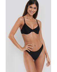 NA-KD Swimwear Hochgeschnittenes Bikinihöschen - Schwarz