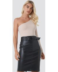 NA-KD Belted Midi Skirt - Zwart