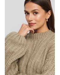 NA-KD Round Neck Heavy Knit Sweater - Mehrfarbig