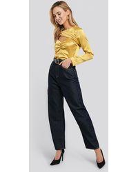 NA-KD High Waist Oversized Jeans - Blauw