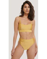 NA-KD Swimwear Maxi Highwaist Slip - Geel
