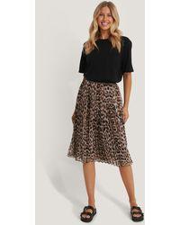 NA-KD Multicolor Midi Pleated Skirt