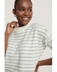 NA-KD Striped Round Neck Knitted Sweater - Mehrfarbig