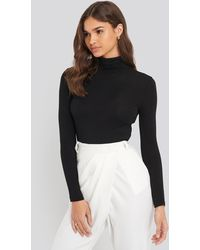 Trendyol Sheer Turtleneck Top - Zwart