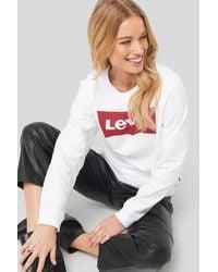 Levi's Relaxed Graphic Crew Sweatshirt - Weiß