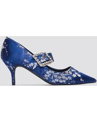 NA-KD Shoes Embellished Buckle Mid Heels - Blau