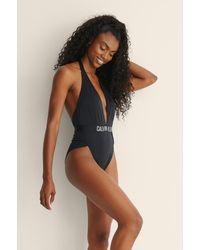 Calvin Klein Black Plunge Swimsuit
