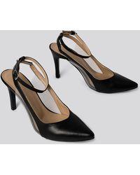 Trendyol Black Transparent Detailed Court Shoes