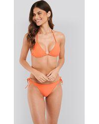 NA-KD Orange Triangle Bikini Top