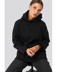 NA-KD Basic Wide Hoodie - Zwart