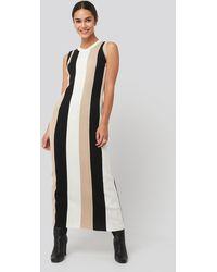 NA-KD - Ribbed Sleeveless Maxi Dress Multicolor - Lyst