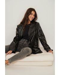 NA-KD Organisch Skinny Jeans Met Hoge Taille - Grijs
