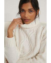 Trendyol Offwhite Knit Turtleneck Jumper - Multicolour