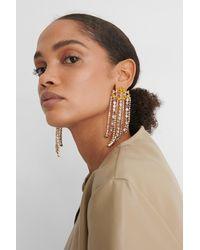 NA-KD Multicolor Colorful Rhinestone Drop Earrings