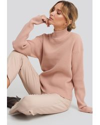 NA-KD - High Neck Ribbed Sweater - Lyst