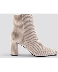 NA-KD - Mid Heel Manchester Boot - Lyst
