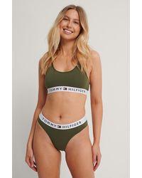 Tommy Hilfiger Green Cotton Coordinate Bikini