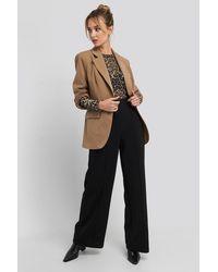 Trendyol Stitch Detailed Wide Leg Pants - Zwart