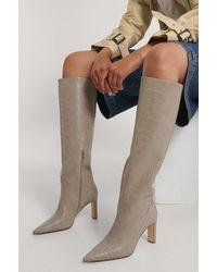 NA-KD Shoes Stiefel Mit Spitz Zulaufendem Schaft - Mehrfarbig