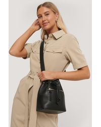 NA-KD Black Small Bucket Bag