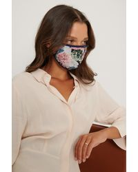 NA-KD Multicolour 3-pack Printed Face Masks - Pink