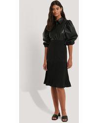 NA-KD Pleated Detail Skirt - Zwart