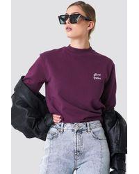 NA-KD - Good Vibes Sweatshirt Bordeaux - Lyst