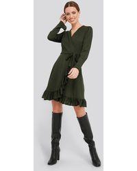Trendyol Binding Detailed Dress - Groen