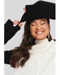 NA-KD Wool Blend Colour Block Sweater - Noir