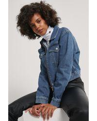 Calvin Klein - Cropped Denim Jack - Lyst