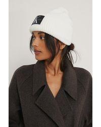 Calvin Klein Bonnet À Logo - Blanc